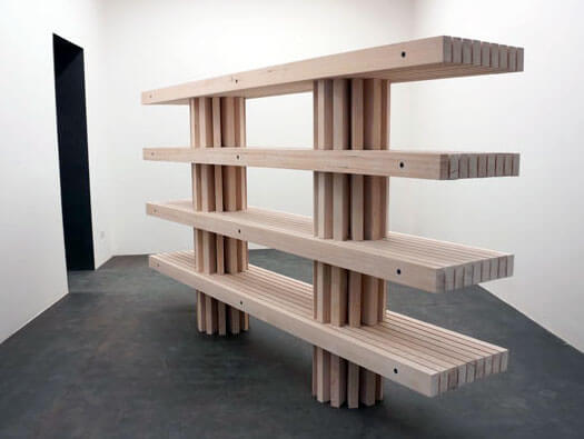 Slat Bench Modular Shelving By Philippe Malouin Bookcase Porn